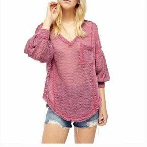 NWT Free People Fresh And New Hacci Pullover Top